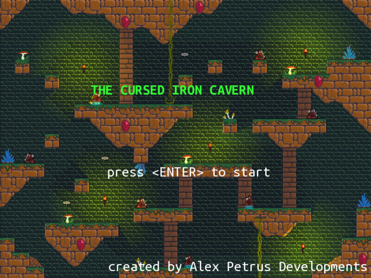 The Cursed Iron Cavern - Title Screen